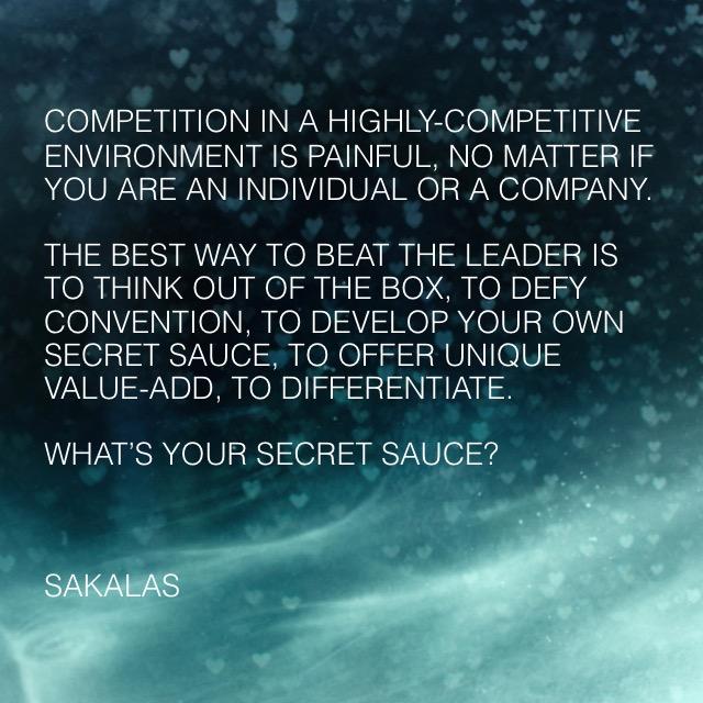 Secret Sauce - by Bob Sakalas